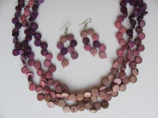 Other NECKLACE AND EARRINGS SET WITH CIRCLES Image 1