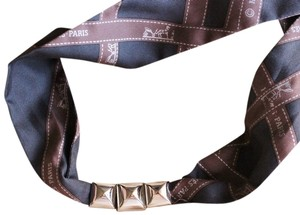 Hermes Hermes - Scarf Necklace with Silver Enhancers