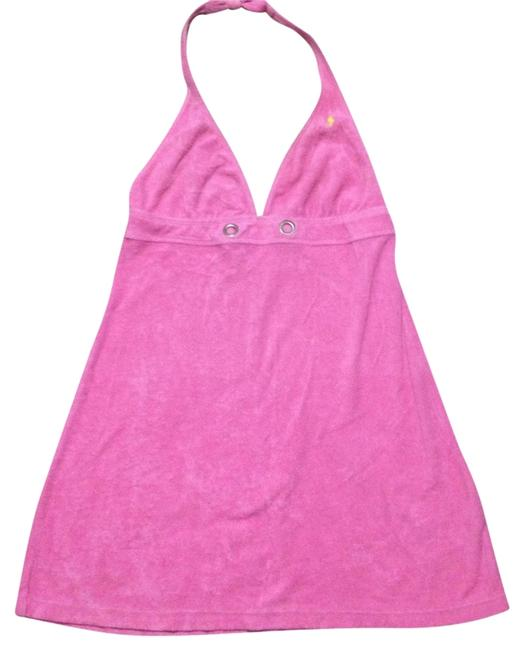 Item - Pink Terry Cover Halter Dress Cover-up/Sarong Size 4 (S)
