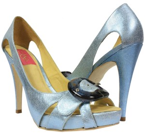 MS Shoe Designs Electric Blue Pumps