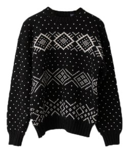 Evan Picone Wool Snowflake Fair Isle Sweater