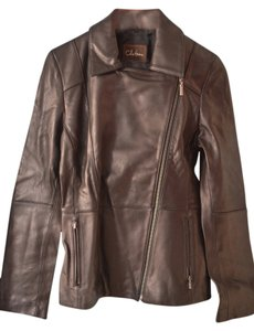 Cole Haan Chocolate/Brown Leather Jacket