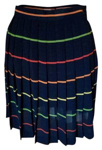 Liz Claiborne Fun Dressy Casual Cool Skirt Navy/Multi