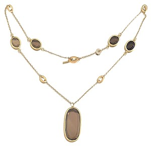 "Nanis Italian Jewels Nanis 18 karat Gold and Smoky Quartz Necklace from ""Olga"" Collection 17"""