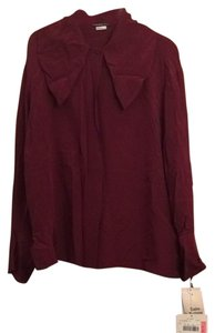 Theo Miles Button Down Shirt Burgundy