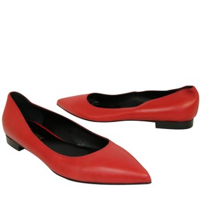 Saint Laurent Tom Ford Lambskin Leather Red Pumps