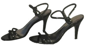 Calvin Klein Leather Black Antique Anthracite Sandal Sandals
