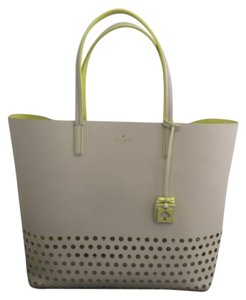 Kate Spade Tote in Off White/Neon