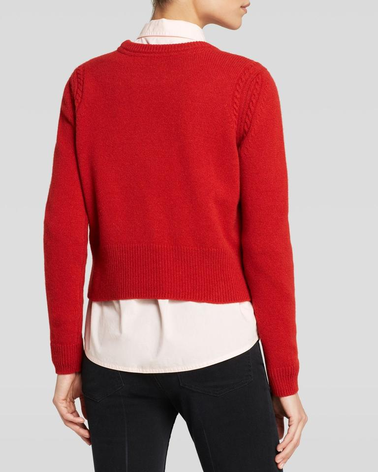 marc by marc jacobs red pepper m1032 sweater pullover size 12 l tradesy. Black Bedroom Furniture Sets. Home Design Ideas