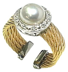 Charriol Charriol diamond-set Pearl cable ring, size 6