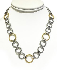 Charriol Charriol 18 Karat Gold & Stainless Steel Cable Necklace