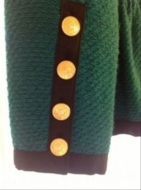 Chanel Vintage Tweed Classic Green Blazer Image 3