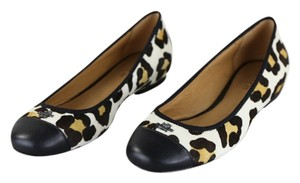 Coach Black/White Flats