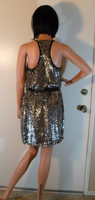 Adrianna Papell Halter Gold Sequin Dress Image 5