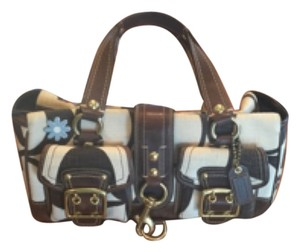 Coach Satchel in Brown/Cream