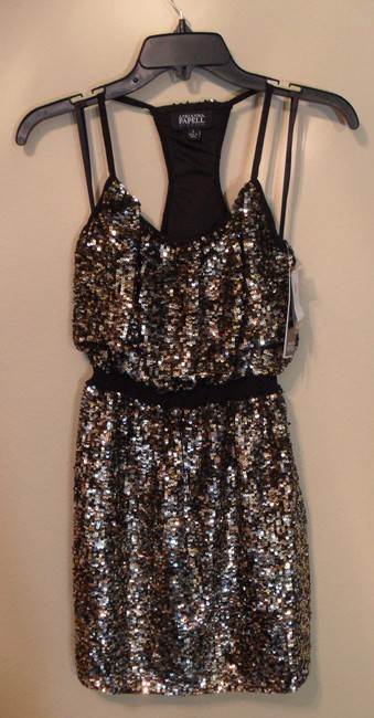 Adrianna Papell Evening Full Bead Halter Sequin Gold New 2 Dress