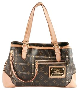 Louis Vuitton Vintage Limited Edition Rare Studded Monogram Tote in Brown & gold