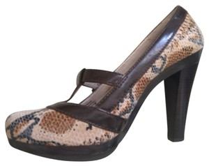 Michael Kors Brown snake print Platforms