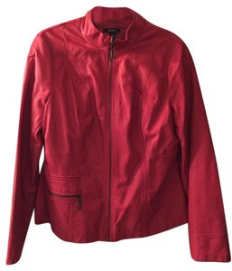 Alfani Faux Leather Red Leather Jacket