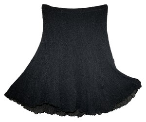 Bisou Bisou Michele Bohbot Mini Skirt Black