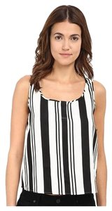 Theory New Striped Top Black & White