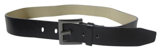 Other Black Men's Belt with Silver-tone Hardware Size Medium
