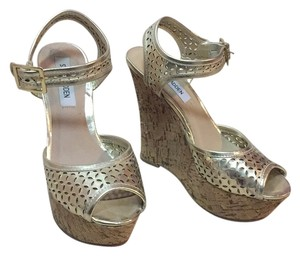 Steve Madden Gold Wedges
