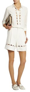 Chloé Chloe Cutout Silk/Crepe Shorts and Blouse Set