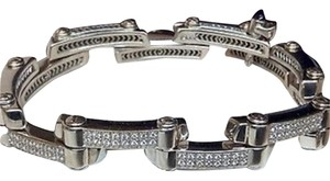 Charriol Philippe Charriol 2000 Millennium 18k White Gold Diamond Link Bracelet.