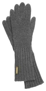 Burberry New Burberry Grey Cashmere Ribbed Knitted Touch Glove
