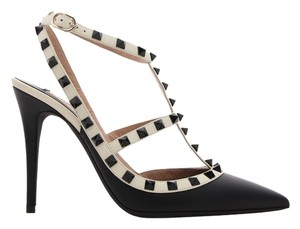 Valentino Leather Rockstud Stiletto Black Pumps