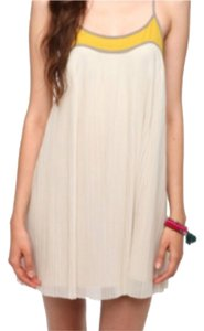 Urban Outfitters short dress Beige and yellow on Tradesy