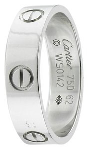Cartier Cartier 62 LOVE Ring 18kt White Gold Ring - Size 10