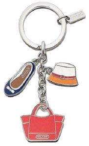 Coach NEW Coach 65743 Purse Hat Shoe Charms Key Ring Key Fob $58