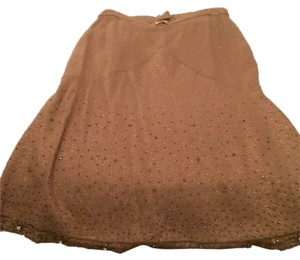 Tracy Reese Skirt Shimmery gold with crystals.
