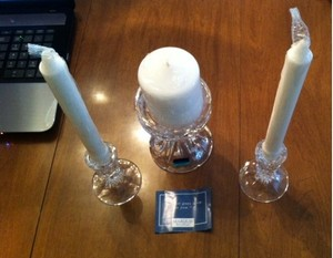 Clear/White Crystal Set With Unity Candle
