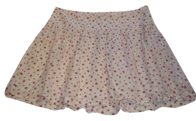 Gap Above Knee Dot Skirt Cream w. Pink Polka Dots