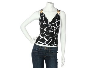 Roberto Cavalli Top Black and White
