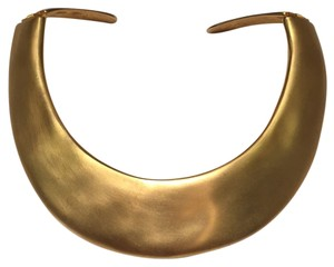 Kenneth Jay Lane Gold hinged choker collar necklace