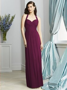 Dessy Ruby Lux Chiffon 2932 Formal Bridesmaid/Mob Dress Size 6 (S)