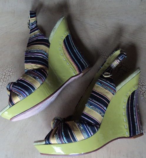 Vince Camuto lime, multi Wedges
