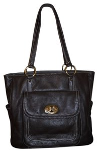 Chaps Man Made Tote in brown