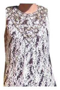 Tory Burch Beaded Neckline Shift Sleeveless Dress