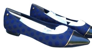 Rachel Roy Lea Leather Black/Blue/Gold Flats