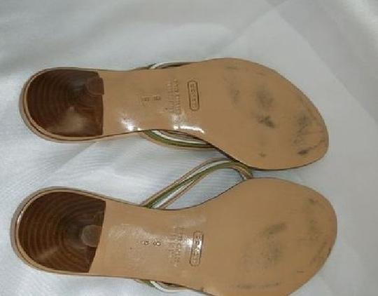 Coach Greens/Tans/white Sandals Image 1