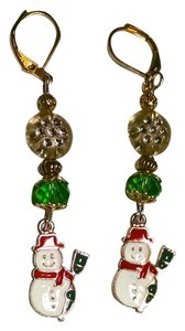New Handmade Christmas Snowman Earrings J1444