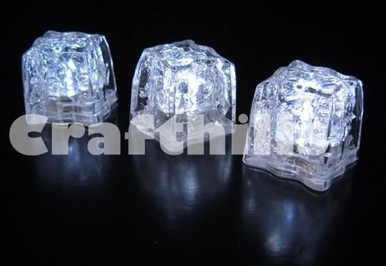 White 12 Pcs Led Ice Floating Waterproof Floral Tea Vase Centerpiece Light Up For Party Supplies Other