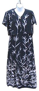 Black Floral Maxi Dress by Worthington 2 Pc Bamboo Design