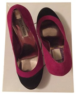 Steve Madden Black tips / mauve Pumps