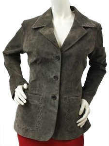 June Suede Leather BROWN Leather Jacket